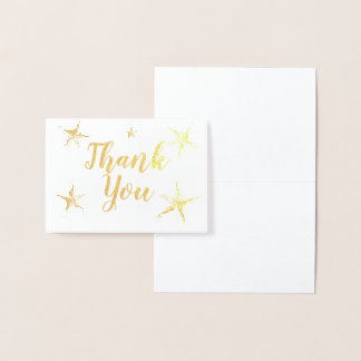 Silberne Folie Stafish danken Ihnen Folienkarte