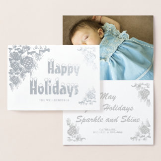 Silver Foil Happy Holidays Photo