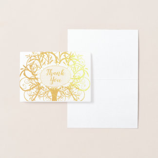 Silberne Folien-Strudel-Baum danken Ihnen Folienkarte