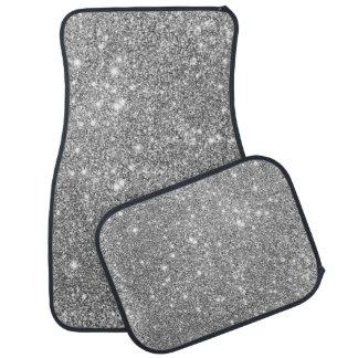 Silberne Glitter-Glitzern Automatte