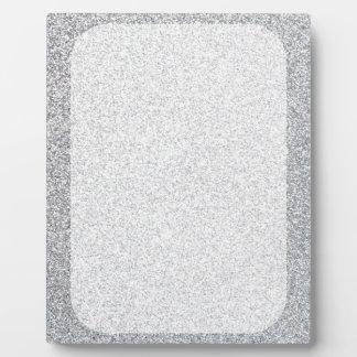 Silberne Glitterraumschablone Fotoplatte