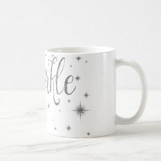 Silberne Glitzern Kaffeetasse