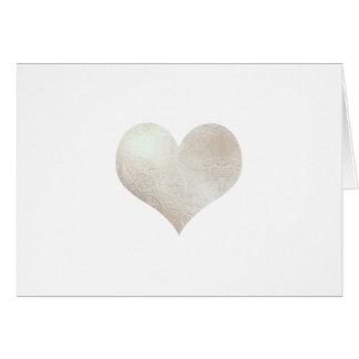 Silberne Heart/DIY Mitteilung PixDezines Imitats Karte
