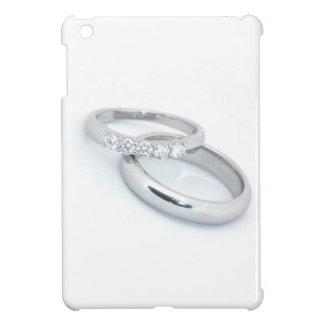 Silberne Hochzeits-Bänder Save the Date iPad Mini Hüllen