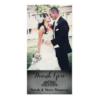Silberne Hochzeits-Foto danken Ihnen Postkarte