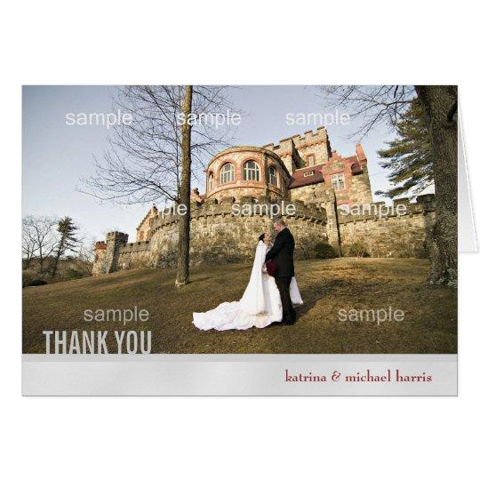 Silberne Hochzeits-Foto danken Ihnen zu kardieren Karte