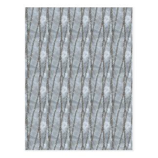 SILBERNE Juwel-Strang-Grafik-Foto GESCHENKE Postkarte
