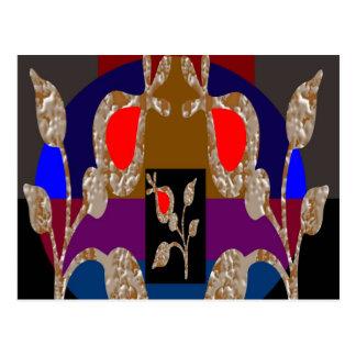 Silberne Juwelen des Goldn: Gravierter gestickter Postkarte