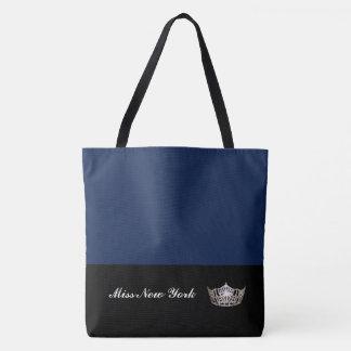Silberne Kronen-Taschen-Tasche-Große Marine Tasche