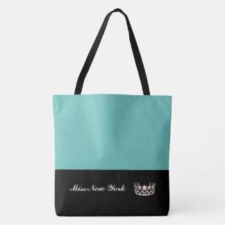 Silberne Kronen-Taschen-Tasche-Großes Aqua Tasche