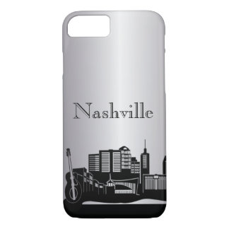 Silberne Nashville-Silhouette-Telefon-Hüllen iPhone 8/7 Hülle