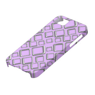 Silberne Quadrate auf violetter iPhone 5 Abdeckung Etui Fürs iPhone 5