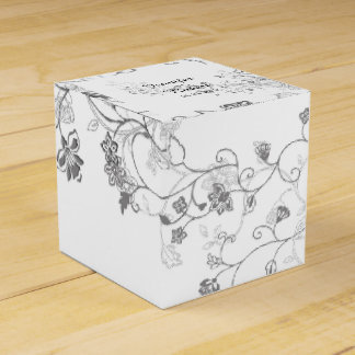 Silberne Rebe-Gastgeschenk Hochzeits-Kasten Geschenkkartons