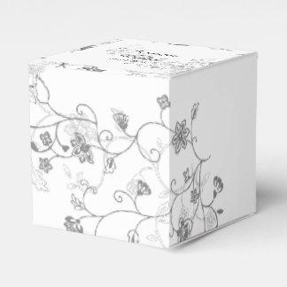 Silberne Rebe-Gastgeschenk Hochzeits-Kasten Geschenkschachtel