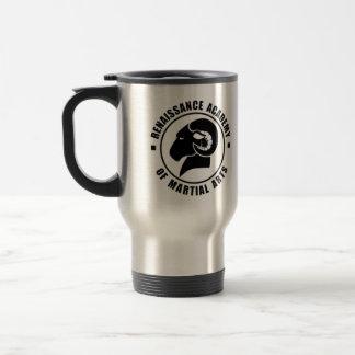 Silberne Reise-Tasse, schwarzes RAM Logo Reisebecher