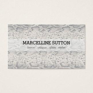 Silberne Schlangen-Haut Visitenkarte