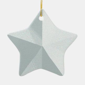 Silberne Stern-Weihnachtsverzierung kundengerecht Keramik Stern-Ornament