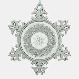 Silberne Sternexplosion Schneeflocken Zinn-Ornament