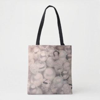 Silberne Verzierungswinterfeiertags-Taschentasche Tasche