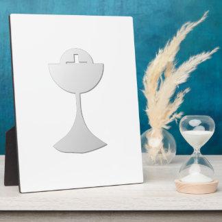 Silberner Chalice und Wirt Fotoplatte