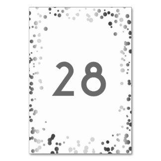 Silberner Confetti-elegante weiße Hochzeit Karte