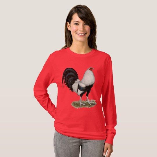 Silberner Duckwing Kampfhahn T-Shirt