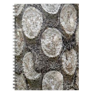 Silberner Farn-Baum-Foto-Notizbuch Notizblock