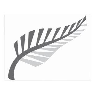 Silberner Farn-fantastisches Neuseeland-Bild Postkarte