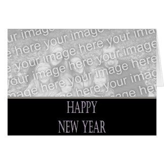 silberner Feiertag des guten Rutsch ins Neue Jahr Karte