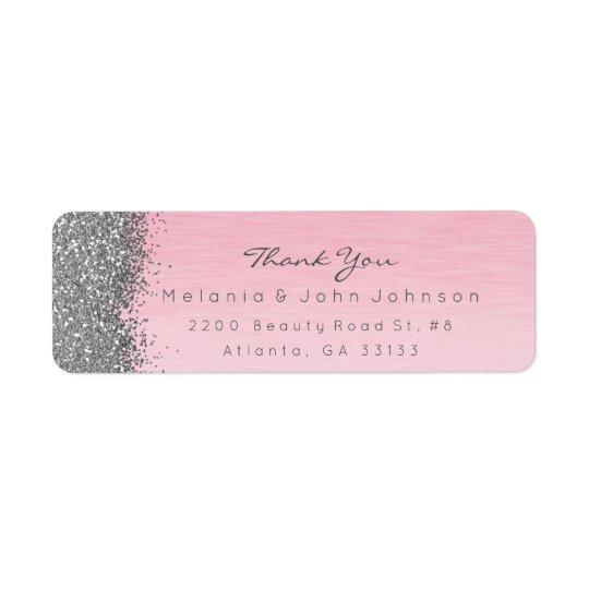 Silberner funkelnd Glitter-Rosa-Rosen-Pastell