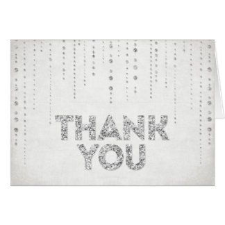 Silberner Glitter-Blick danken Ihnen zu kardieren Karten