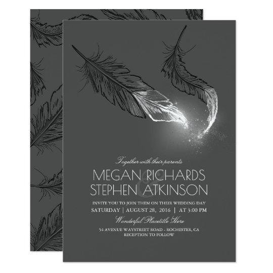 Silberner Glitter versieht elegante moderne 12,7 X 17,8 Cm Einladungskarte