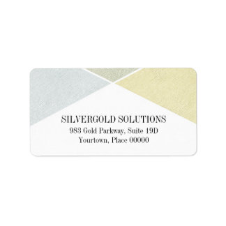 Silberner Goldmetallblick-industrielles Chic Adressaufkleber