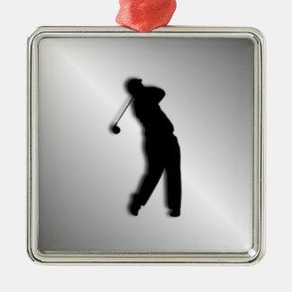 Silberner Golf-Entwurf Silbernes Ornament