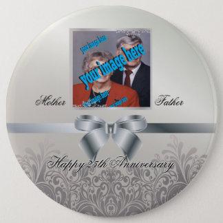 Silberner Hochzeitstag Runder Button 15,3 Cm