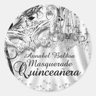 Silberner Leuchter-Maskerade Quinceanera Aufkleber
