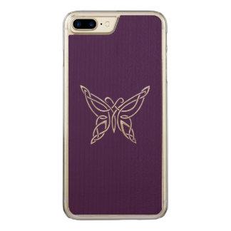 Silberner lila keltischer carved iPhone 8 plus/7 plus hülle