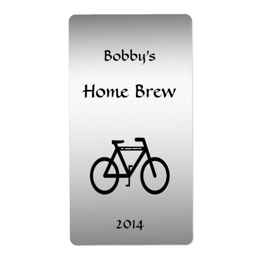 Silberner metallischer Fahrrad-Bier-Aufkleber