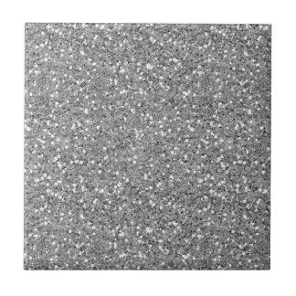 Silberner Schimmer-Glitzer Keramikfliese