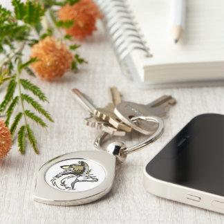 Silberner Strudel-universelles Logo Keychain Schlüsselanhänger