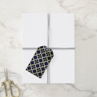 Silberner und blauer Feiertag Bling Geschenkanhänger