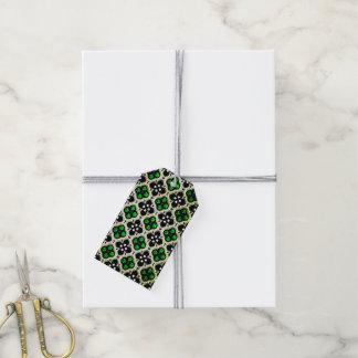 Silberner und grüner Feiertag Bling Geschenkanhänger