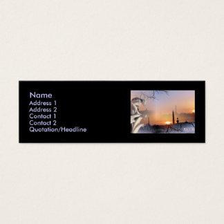 Silberner Wasserspeier, Schablone Mini Visitenkarte