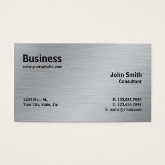 Silbernes berufliches elegantes Metallmoderne Visitenkarten