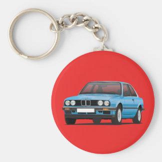 Silbernes Blau BMWs E30 Schlüsselanhänger