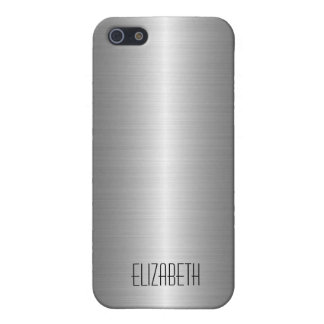 Silbernes Edelstahl-Metall 2 iPhone 5 Cover