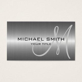 Silbernes Edelstahl-Metall Visitenkarte