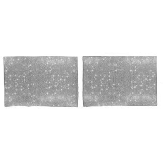 Silbernes Glitzer-Schein-Metallmetallischer Blick Kissenbezug