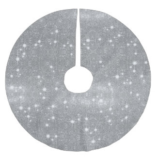 Silbernes Glitzer-Schein-Metallmetallischer Blick Polyester Weihnachtsbaumdecke