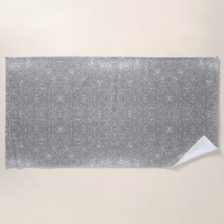 Silbernes Glitzer-Schein-Metallmetallischer Blick Strandtuch